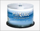 PlexDisc Liquid Defense Plus Glossy White Inkjet Hub Printable Blank Media