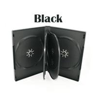 Standard 6 Disc DVD Case Black w/ 2 Trays - 22mm - 20 pcs