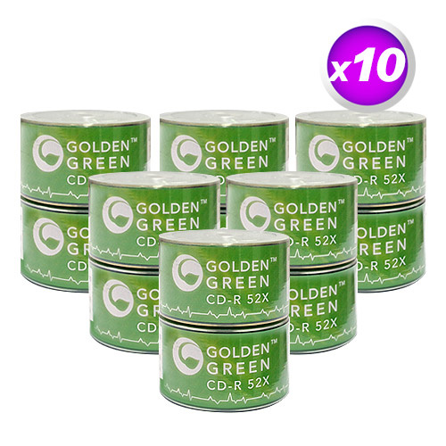 image relating to Printable Blank Cds identified as GoldenGreen 52X 80min 700MB White Inkjet Printable CD-R Blank Media - 6000 Disc