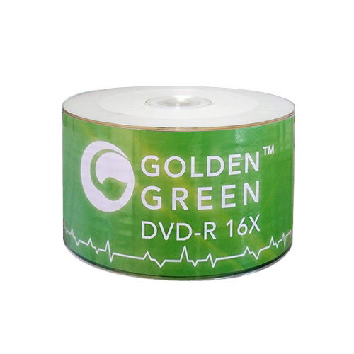 graphic about Printable Dvd Discs identified as GoldenGreen 16X 4.7GB White Inkjet Printable DVD-R - 50 Disc